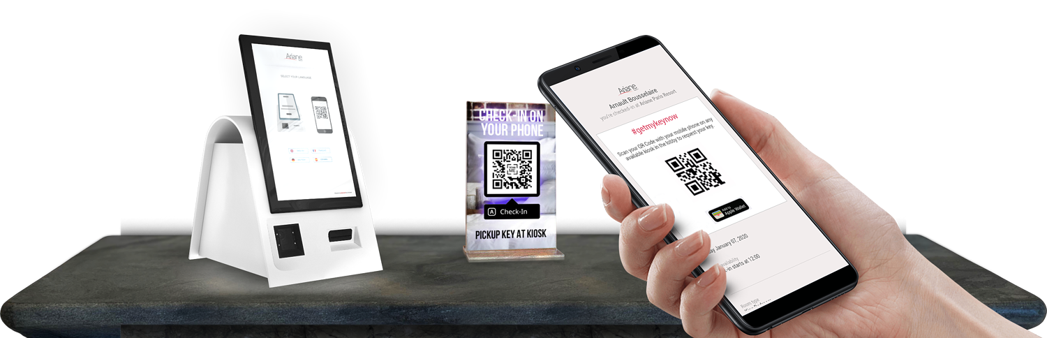 Check-in on your phone with a QR code and your mobile phone
