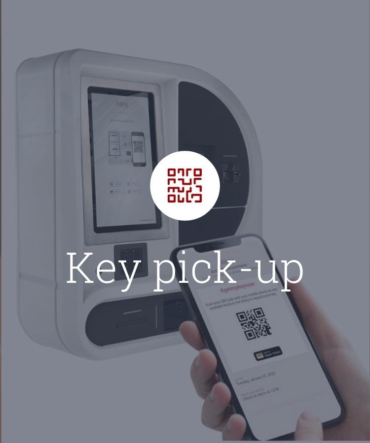 key pick up on self check in kiosk